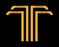 T élégant Logo Design Photo stock