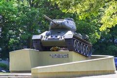 T-34坦克在加里宁格勒 库存照片