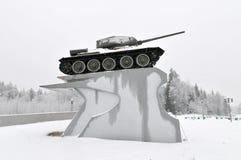 T-34坦克纪念碑-俄罗斯 免版税库存照片