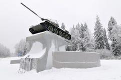 T-34坦克纪念碑-俄罗斯 库存照片