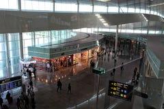 T1巴塞罗那El Prat Airside 免版税图库摄影