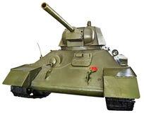 T-34被隔绝的苏联中型油箱 免版税库存照片
