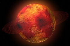 δαχτυλίδια πλανητών πυράκ&t Στοκ Εικόνες