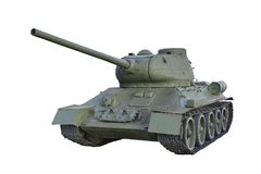 Легендарный танк T-34 стоковые изображения