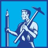 建筑师铅笔正方形t 免版税库存图片