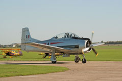 T-28 Fennec taxis for takeoff Stock Photo