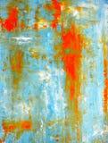 小野鸭和橙色抽象派绘画 库存照片