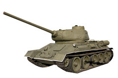 T-34-85 tank isolated Stock Photography