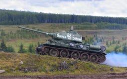 T 34 tank royalty free stock photo