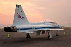 T-38爪美国航空航天局-宇航员喷气机培训人 库存照片