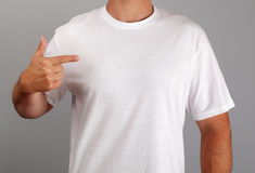 空白衬衣t白色 库存图片