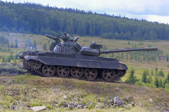 T 55 tank royalty-vrije stock afbeelding