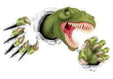 T雷克斯恐龙爪剥去 免版税库存图片