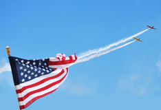 T-6 Anordnung beim Denton, Texas Airshow stockfotos