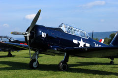 T-6 Texan. The T-6 Texan was a single-engine advanced trainer aircraft designed by North American Aviation, used to train fighter pilots Stock Photography