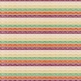 无缝的镶边几何样式 T恤杉的纺织品装饰品 库存照片