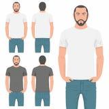 人T恤杉设计模板 向量例证