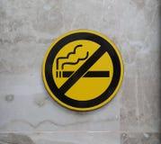 Знак дыма ` t Дон стоковые изображения rf