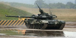 T-90 is a Russian main battle tank Stock Photos