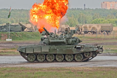 T-90A demonstrates the tank combat Royalty Free Stock Photography
