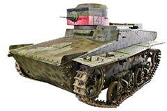 T-37A被隔绝的苏联小水陆坦克 免版税库存照片
