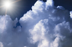 tła abstrakcjonistyczny cloudscape Zdjęcia Royalty Free