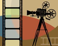 tła abstrakcjonistyczny kino Zdjęcie Stock