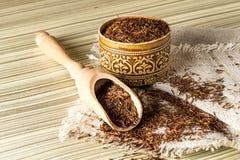 Tè africano etnico asciutto di rooibos Fotografia Stock Libera da Diritti