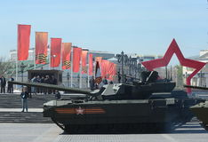 T-14 Armata是根据Armata普遍作战平台的俄国先进的下一代主战坦克 免版税库存图片