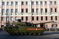 The T-14 Armata is a new Russian main battle tank based on the Armata Universal Combat Platform Stock Photos