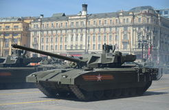 The T-14 Armata is a Russian advanced next generation main battle tank based on the Armata Universal Combat Platform Royalty Free Stock Photography