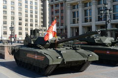 The T-14 Armata is a Russian advanced next generation main battle tank based on the Armata Universal Combat Platform Stock Photo