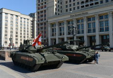 The T-14 Armata is a Russian advanced next generation main battle tank based on the Armata Universal Combat Platform royalty free stock photo