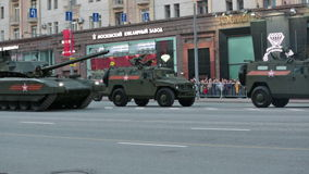 The T-14 Armata tank stock video footage