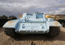 T-54 armoured personnel carrier on display. LATRUN, ISRAEL - NOVEMBER 27, 2014: T-54 armoured personnel carrier on display at Yad La-Shiryon Armored Corps Museum Royalty Free Stock Photos