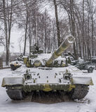 T-80B-The world's first serial tank with a gas turbine engine, Stock Image