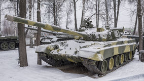 T-80B-The world's first serial tank with a gas turbine engine, Stock Images