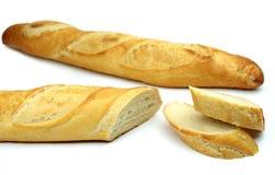 tła baguette biel Fotografia Stock