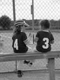 T-ball girls 1 Royalty Free Stock Image