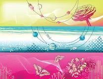 tła baner kwiaty Zdjęcie Royalty Free