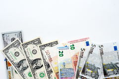 tła banknotu odosobniony biel Obraz Royalty Free