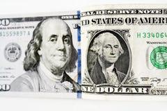 tła banknotu odosobniony biel Zdjęcia Royalty Free