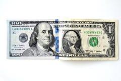 tła banknotu odosobniony biel Fotografia Stock