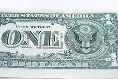 tła banknotu odosobniony biel Fotografia Royalty Free