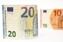 tła banknotu odosobniony biel Obraz Stock