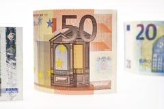 tła banknotu odosobniony biel Zdjęcie Royalty Free