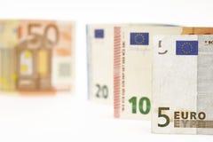 tła banknotu odosobniony biel Obrazy Stock