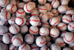 tła baseballa cukierków czekoladowa tekstura Zdjęcie Royalty Free