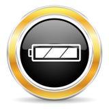 tła bateryjnej ikony odosobniony biel Obraz Stock