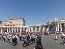 tła bazyliki bernini miasta fontanny Peter Rome s kwadratowy st Vatican obraz stock